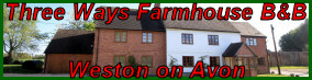 Three Ways Farmhouse Bed & Breakfast, Weston on Avon, Stratford on Avon, Warwickshire.